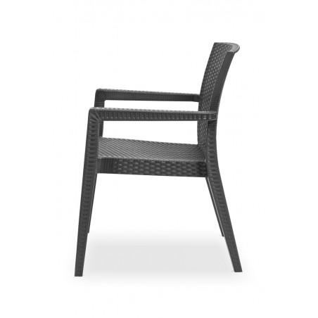 Krzesło MARIO antracyt - ogródki piwne