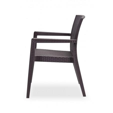 Krzesło MARIO brązowy - ogródki piwne