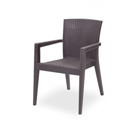 Krzesło do ogródków piwnych MARIO brązowy