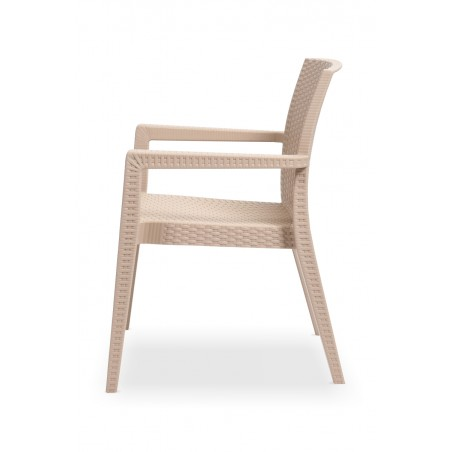 Krzesło MARIO cappuccino - ogródki piwne
