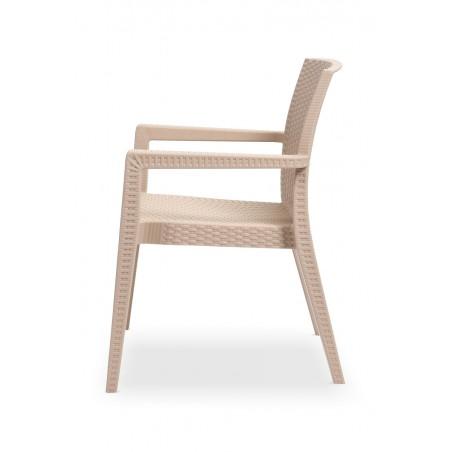 Krzesło do ogródków piwnych MARIO cappuccino