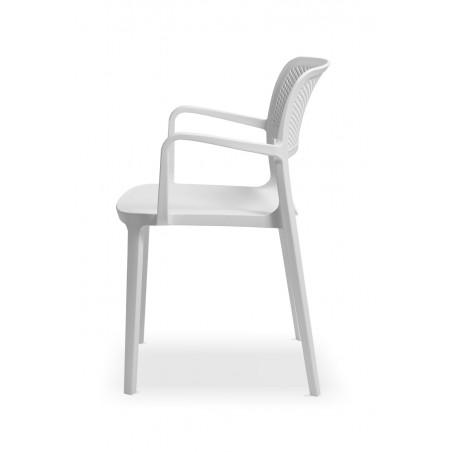 Krzesło do ogródków piwnych NICOLA biały