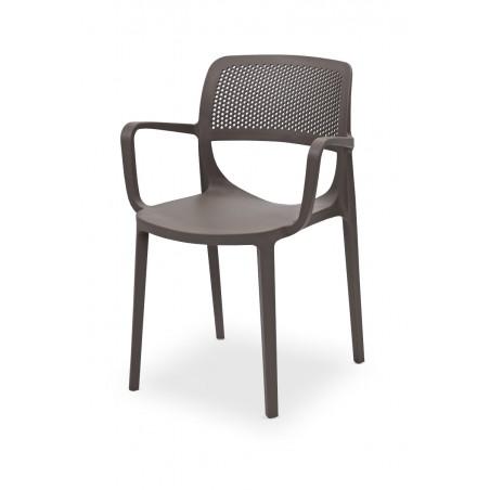Krzesło do ogródków piwnych NICOLA piaskowo-szary