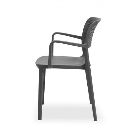 Krzesło do ogródków piwnych NICOLA antracyt