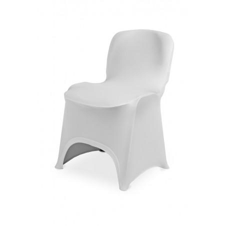 Pokrowiec na krzesło ISO SLIMTEX HIT biały