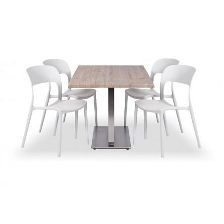 Zestaw mebli kawiarnianych - stolik VERA DUO, krzesła HAVANA biała