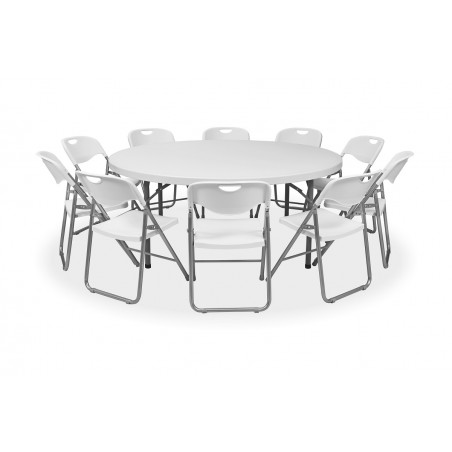 Zestaw mebli cateringowych - stół 70183, krzesła POLY 9