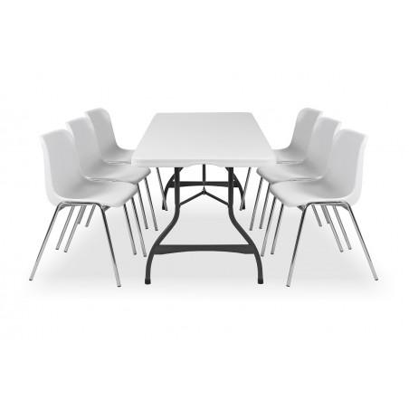 Zestaw mebli cateringowych - stół 80272, krzesła MAXI
