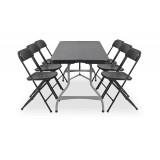 Zestaw mebli cateringowych - stół 80350, krzesło POLY 7 czarne