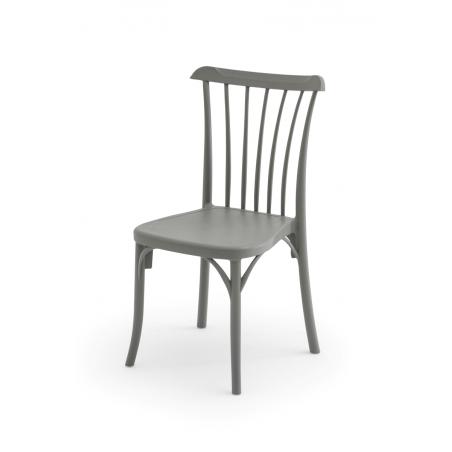 Krzesło kawiarniane PATYCZAK RETRO cementowo szare