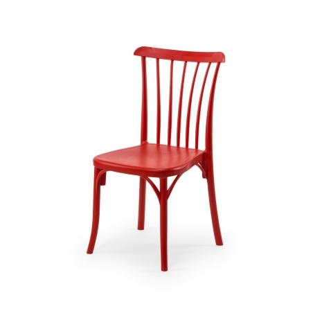 Krzesło kawiarniane PATYCZAK RETRO czerwone