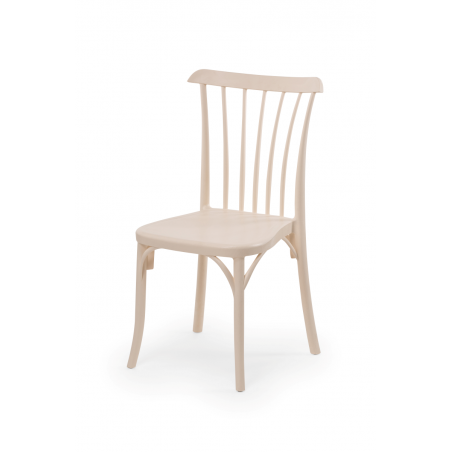 Krzesło kawiarniane PATYCZAK RETRO kremowe