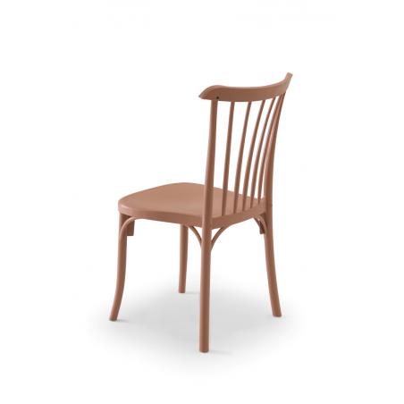 Krzesło kawiarniane PATYCZAK RETRO mleczny brąz