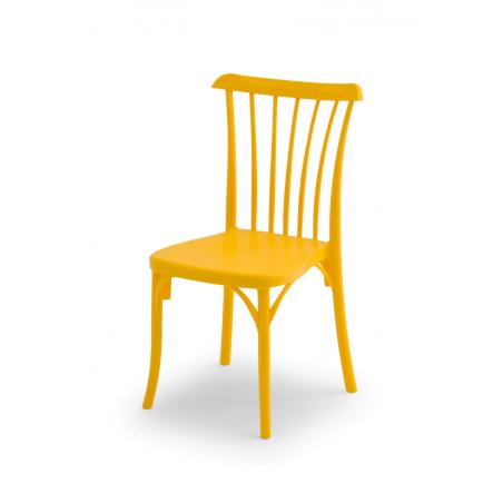 Krzesło kawiarniane PATYCZAK RETRO żółte