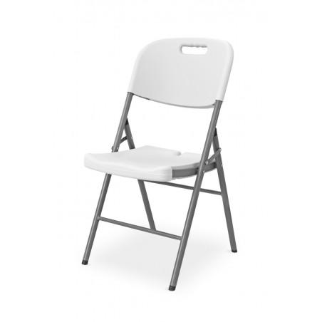 Krzesło cateringowe składane POLY 11 biało/szare