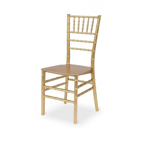 Krzesło ślubne CHIAVARI TIFFANY złote szampańskie