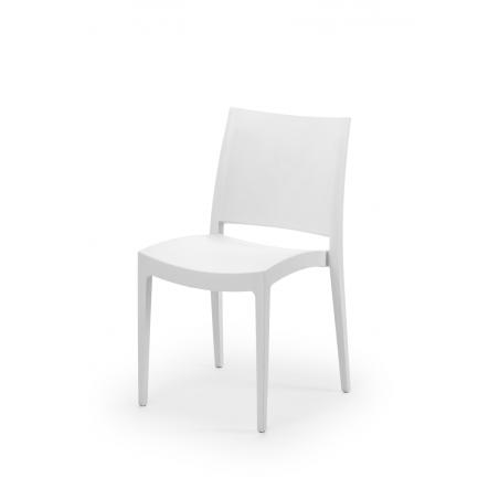 Krzesło kawiarniane GOMERA białe