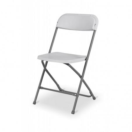 Krzesło cateringowe składane POLY 7 biało/szare
