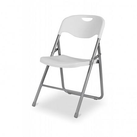 Krzesło cateringowe składane POLY 9 biało/szare