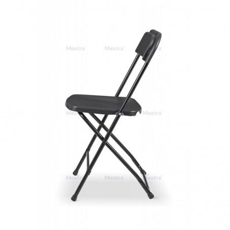 Krzesło cateringowe składane POLY 7 czarno/szare