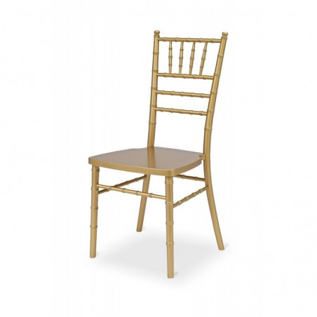 Krzesło ślubne CHIAVARI DREWNO TIFFANY ZŁOTE CHAMPAGNE
