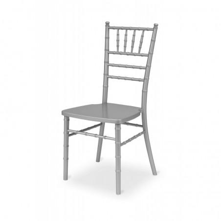 Krzesło ślubne CHIAVARI TIFFANY DREWNO SREBRNE