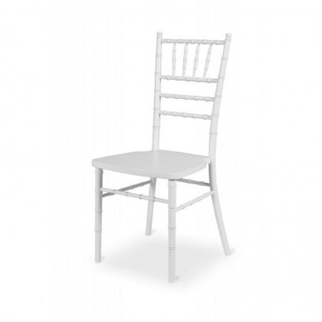 Krzesło ślubne CHIAVARI TIFFANY DREWNO BIAŁE