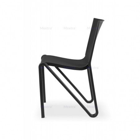 Krzesło kawiarniane BOOM czarne