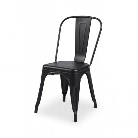 Krzesło kawiarniane PARIS inspirowane TOLIX czarny
