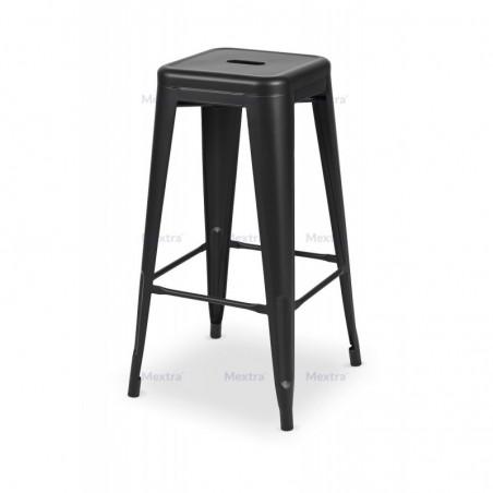 Krzesło kawiarniane PARIS inspirowane TOLIX hoker czarny