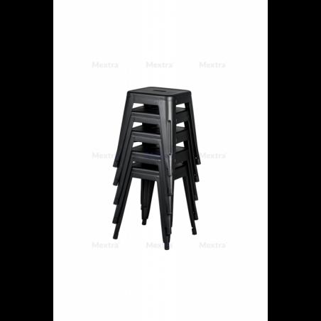 Krzesło kawiarniane PARIS inspirowane TOLIX taboret czarny
