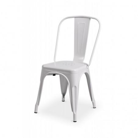 Krzesło kawiarniane PARIS inspirowane TOLIX biały mat