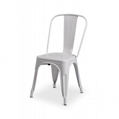 Krzesło kawiarniane PARIS inspirowane TOLIX biały połysk