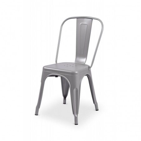 Krzesło kawiarniane PARIS inspirowane TOLIX aluminium mat