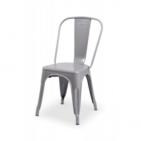 Krzesło kawiarniane PARIS inspirowane TOLIX aluminium połysk