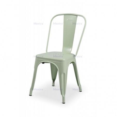 Krzesło kawiarniane PARIS inspirowane TOLIX seledynowy mat