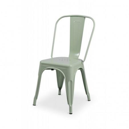 Krzesło kawiarniane PARIS inspirowane TOLIX seledynowy połysk