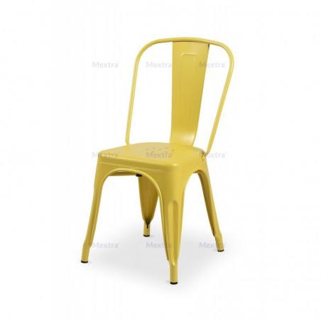 Krzesło kawiarniane PARIS inspirowane TOLIX żółty mat