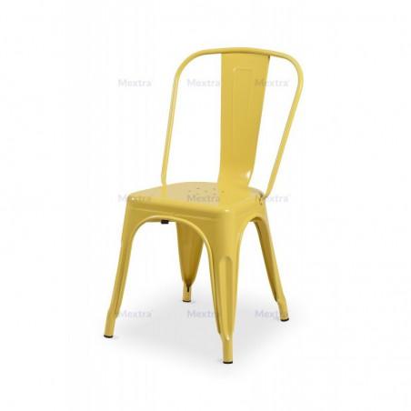 Krzesło kawiarniane PARIS inspirowane TOLIX żółty połysk